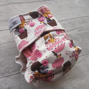 KK fabrics and creations bambus platnena pelena Animals in parachute mamamarket.hr